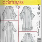 McCalls 4091 Chemise Costume Two Lengths Halloween Ghost Theater Chemise Loose Fitting Sizes XS/S/M