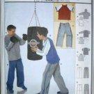 Burda 9811 Sizes 7 to 12 Coordinates Loose Fitting Boys Sweat Pants Hoodie Sweat Shirt
