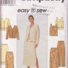 Simplicity 8663 Easy Sew, Jacket V Neck, Pullover Top Pants Skirt Original Sewing Pattern