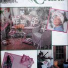 Simplicity Crafts 8523, Pattern for Patio Garden, Round Square Tablecloths, Aprons, Pillow Covers