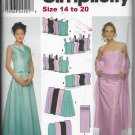 Simplicity 9466 Weddings Proms Tops Skirts Wrap Sizes 14 to 20 Sewing Pattern