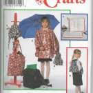 9754 Simplicity Child Poncho Raincoat Backpacks Lunch Tote Bags Computer Cover