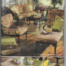 Butterick 4759 Patio Decor Cushions Pillow Cover Rug Border Sewing Pattern Waverly
