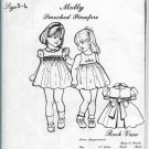 Girls Molly Dress Pattern Smocked Pinafore Size 5-6 Children Patterns Vintage 1983