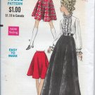 "RARE Vogue 7405 1960s Flared Skirt Sewing Pattern, Skirt in Two Lengths, Size Waist 29"" Hips 40"""