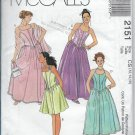 McCalls 2151 Prom Dresses Three Lengths and Stole Sizes 12 14 16