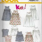 New Look 6493 Children Dresses, Jumpers, Tops, Kids Play Outfits Sizes 4 to 9