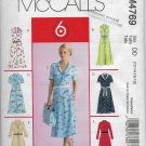 McCalls 4769 Women Dresses Spring Summer Casual Sizes 12-14-16-18 Original Sewing Pattern
