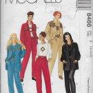 McCalls 8466 Women Jackets Tops Pull-On Pants Sizes 16-18-20 Original Sewing Pattern
