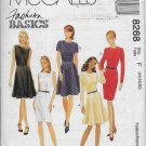 McCalls 8268 Women Dress Semi-Fitted, Fitted, Flared, Sizes 18 18 20 Original Uncut Sewing Pattern