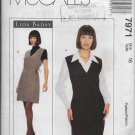 McCalls 7971 Women Dress Lined Jumper and Blouse Size 16 Original Sewing Pattern Uncut