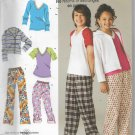 Girls Boys Sizes 8 to 16  Pants Sweatshirt Tops Mix and Match Simplicity 2772 Sewing Pattern