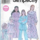 Girls Nightgowns Pajamas Sizes 7 to 14 Simplicity 5382 Original Sewing Pattern Factory Folded
