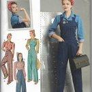 Women Vintage 40s Design Pants Overalls Blouses Sizes 16 to 24 Simplicity 8477 Original