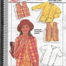 Burda 3810 Girls Vest and Jackets Light Cover-ups, Sizes 8 to 12, Original Sewing Pattern FF