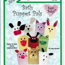 Bath Puppet Pals Washcloths Cows Dogs Cats Rabbits  Sew Baby F884 Pattern Easy Sew