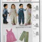 Burda 9772 Boys & Girls Pants Dress Bib Rompers Sizes 3M to 3 yrs