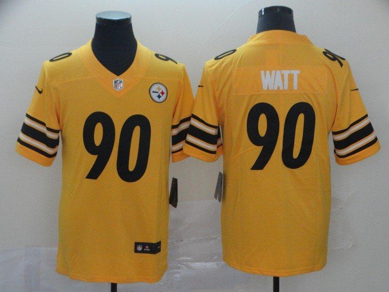 innovative design 232f0 e2dfe Men's Pittsburgh Steelers T.J. Watt Gold Inverted Legend Limited Jersey
