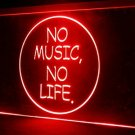 No Music No Life LED Neon Light Sign Bar Beer Roll Rock Luminous Display Glowing