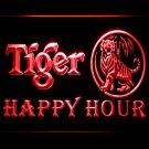 Tiger Happy Hour Beer 3D Neon Light Sign Bar Pub Club Luminous Display Glowing