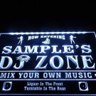 Name Personalized Custom DJ Zone Music Turntable Disco Bar Beer Neon Sign decor