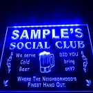 Name Personalized Custom Social Club Home Bar Beer LED Neon Light Sign crafts