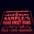 Name Personalized Custom Home Sweet Home Scottie Peace Love Neon Sign decor