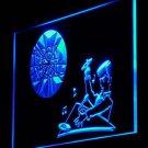 DJ Disc Jockey Rock n Roll Disco Light Sign hang signs wall display glowing