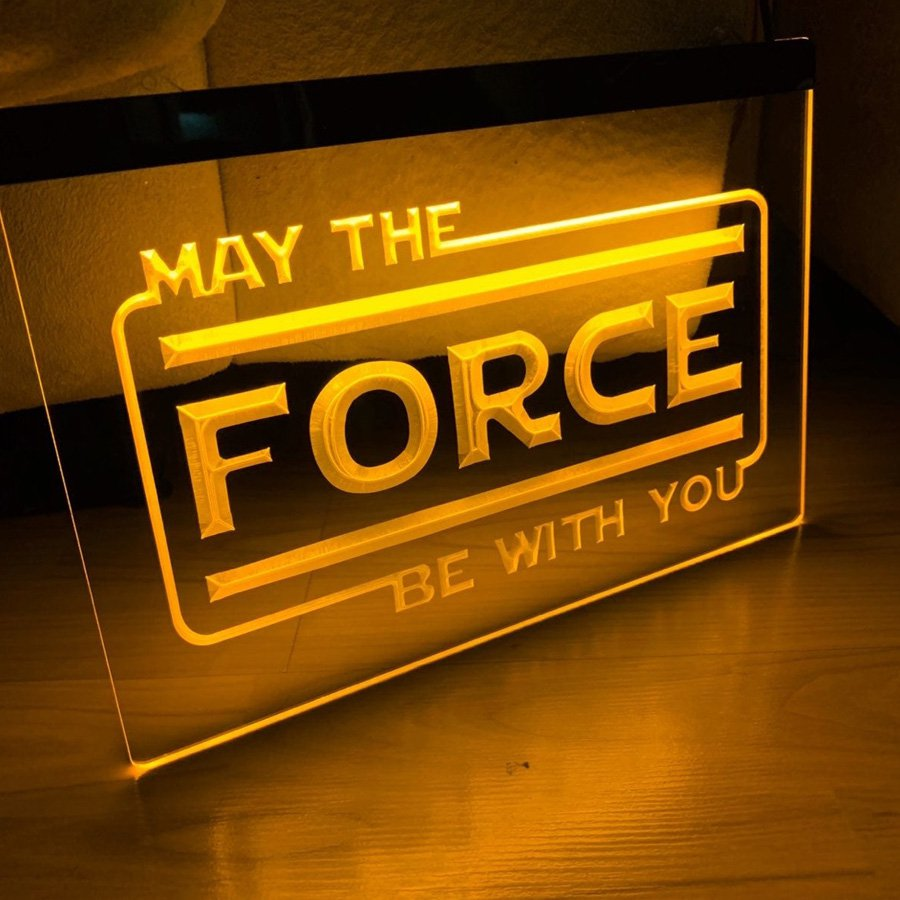 May The Force Be With You LED Neon Sign home decor craft display glowing
