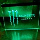 Monster Energy Logo LED Neon Sign hang sign wall decor craft display glowing