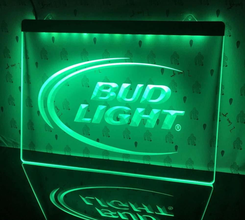 Bud Light Beer Bar LED Neon Sign Hang Sign Wall Restaurant, Pub, Club Decor
