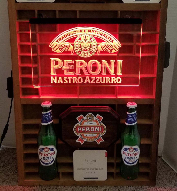 Peroni Beer Bar LED Neon Sign Hang Sign Wall Restaurant, Pub, Club Decor