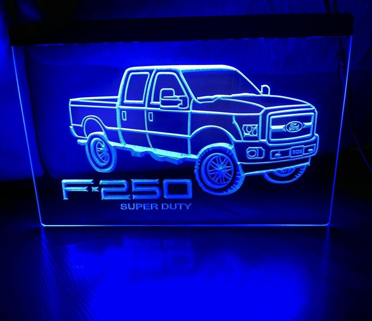 Ford F250 Super Duty Truck LED Neon Signs Home Decor Garage Man cave