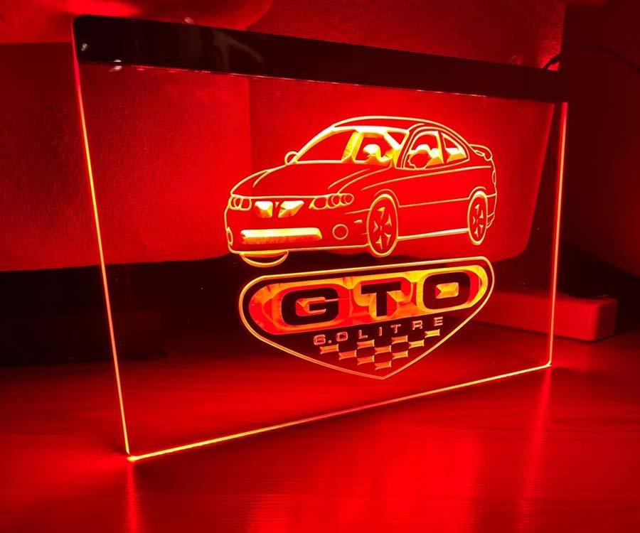 Pontiac GTO LED Neon Sign
