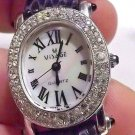 Swarovski Crystal & Real Mother Of Pearl Women's Visage Watch. 2 Year Warranty