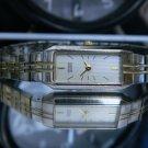 LN Women's Citizen Silver & Gold Ultra Thin Watch. New Battery. 2 Year Warranty