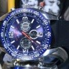 Men's 45mm US Polo Assn Association Digital Analog Ultra Violet Blue Alarm Watch