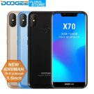 DOOGEE X70 Smartphone 8.1 Unlock 5.5'' U-Notch 19:9 MTK6580 Quad Core 2GB RAM
