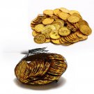 100 pcs/Pack Lot Set of Gold Plating Plastic Pirate Poker Casino S Dollar Chips