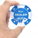 Big 72x20 mm Dealer Blue Round Button Poker Casino Acrylic Transparent Ruiten