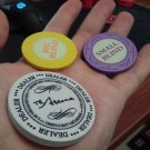 Ceramic Poker Set Small/Big Blind Blinds Dealer Button Chips Cards Press Texas