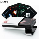 Novelty Collection Black Waterproof PVC Plastic Poker Cards with Alluminium Box