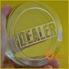 Very Big Great Huge 80x20mm Transparent Dealer Round Button Poker Casino Gamble