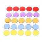 50 Pieces Pcs/Set Poker Casino Plastic Chips Solid Transparent Colors Qualify 15