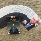 Deck Poker Playing Cards with Portrait of Russian President Vladimir Putin 2019