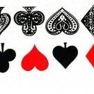 10 pcs Simulation Poker Spades Hearts Clubs Diamonds Waterproof Disposable Tatto