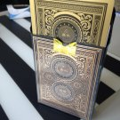 Excellent High Quality New Black Deck Gold Foil Texas Poker Holdem Playing Cards