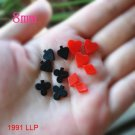 100 pcs Mixed 8mm Small Size For DIY Hair Decoration Very Cute Back Resin Poker