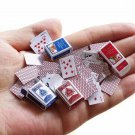 Toy 2 Sets Games Poker Mini Small Paper Playing Cards 1/12 Miniature for Kids
