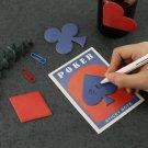 Novelty 4 pcs Cute Vintage Poker Memo Pad Spade Heart Diamond Club Sticky Notes